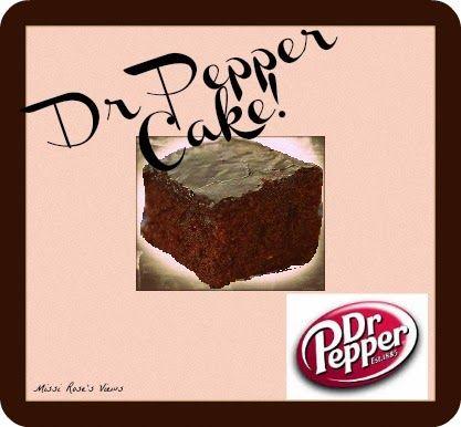 Dr pepper cake recipe pinterest