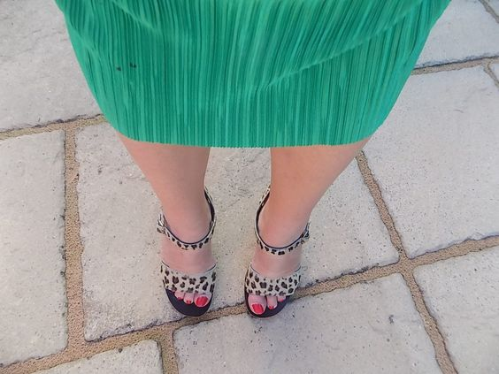 Reviewed - The Charlaine Leopard Print Sandals from K Jacques