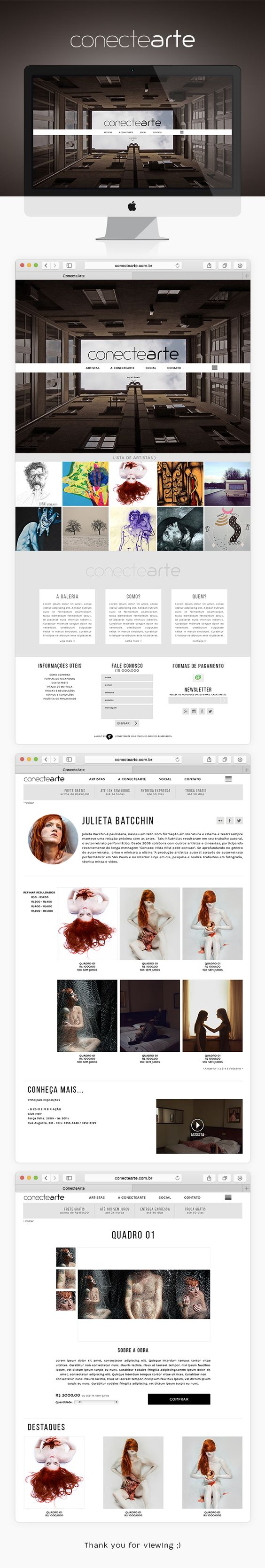 ConecteArte - Galeria de arte online on Behance