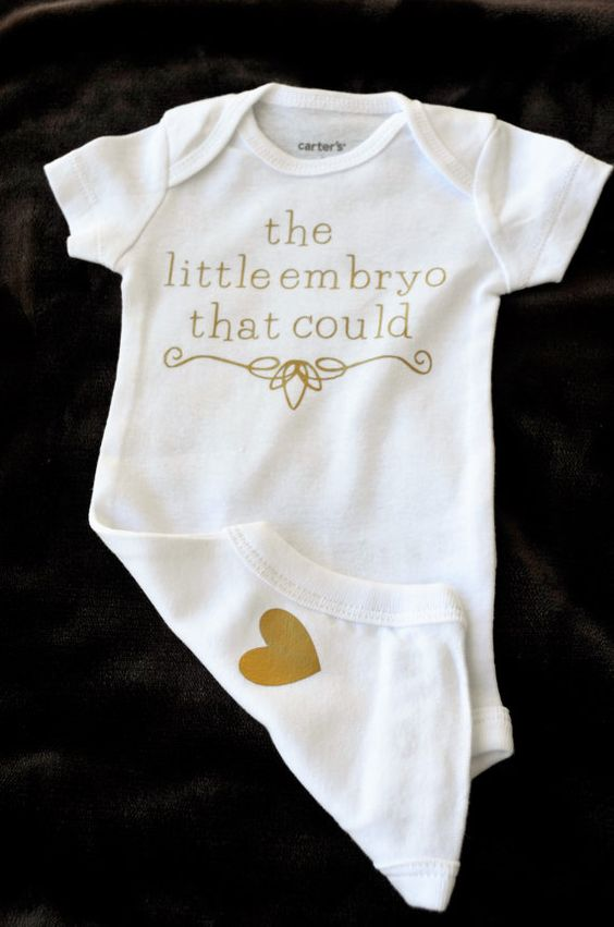 This sweet bodysuit is a perfect celebration of your successful IVF!