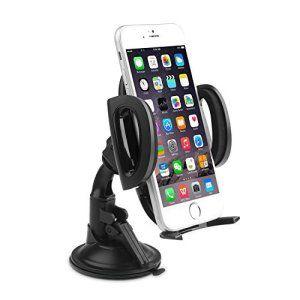AUKEY Support Voiture Auto Universel Ventouse Collé Solide sur Pare-Brise et Tableau de Bord avec Rotation à 360 degrés pour iPhone 6s ,…
