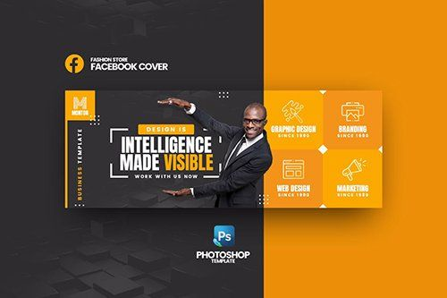 facebook cover psd template free download