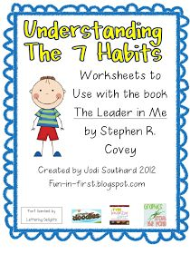 Worksheet 7 Habits Worksheets 7 habits highly effective people and leader in me on pinterest fun first grade of pinned by pediatric therapeutic