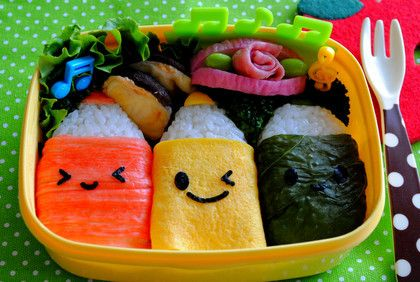 How cute is this... just using seaweed punchers to create cute food for your rice. Also work on sandwich. @bentousa
