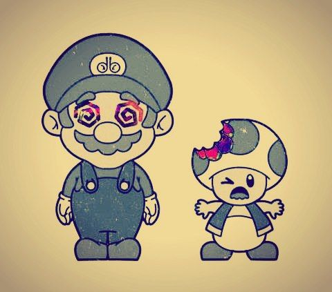 Oh So Mario Prefers Mushrooms To Marijuana Good Know Mary Jane Pinterest Medical