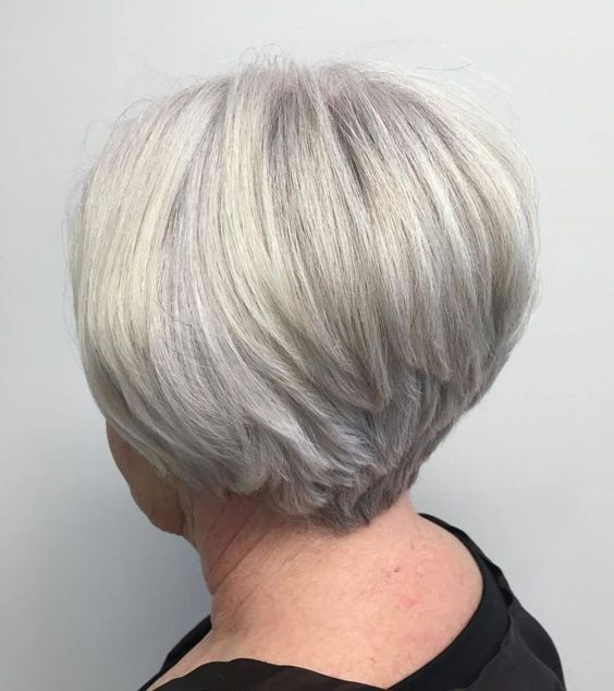 70+ Gray Stacked Pixie Bob for Thick Hair