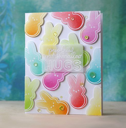 SSS-My Kind of Peep card by Laura Bassen using the March Card Kit: