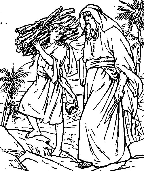 abraham and isaac coloring pages for kids | Catholic Coloring Page: Abraham and Isaac | Catholic ...