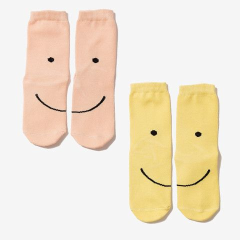 Smiley Crew Socks Set