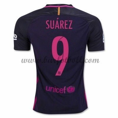 Barcelona Fotbollströja 2016-17 Suarez 9 Borta Tröjor