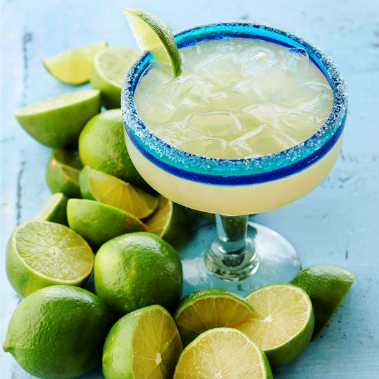 There's nothing better than a lip-smacking, salt-rimmed margarita. Fill the classic drink recipe with freshly squeezed lime juice to add authenticity.: