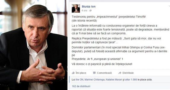 Ion Sturza dezvaluie tensiunea extrema de la Chisinau