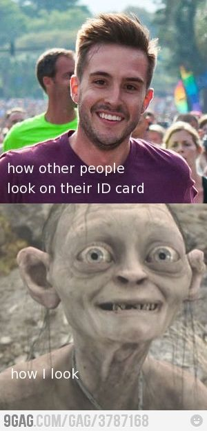 This is how my Student ID looks. No joke.