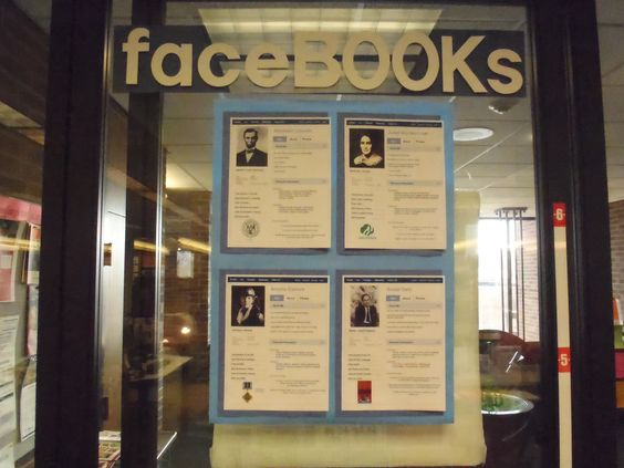 A biography display in Youth Services, circa 2010.
