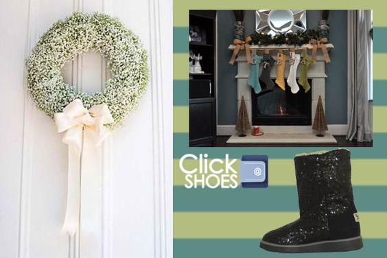 www.clickshoes.com.mx idea para decorar tu chimenea en navidad 2013