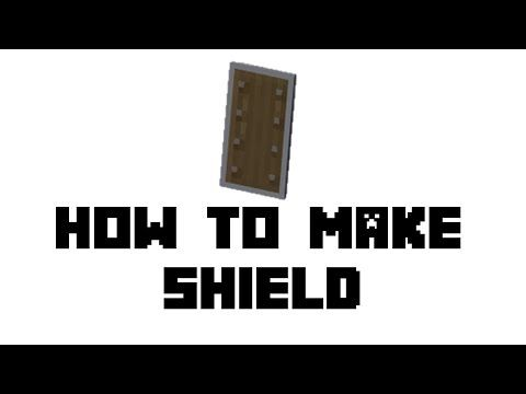 Minecraft Survival How To Make Shield Youtube Minecraft Survival Minecraft Minecraft Ps4