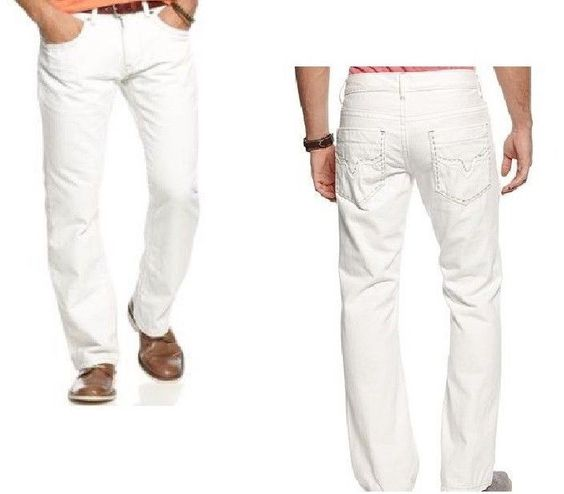 Details about INC International Slim Fit Boot Cut Jeans white ...