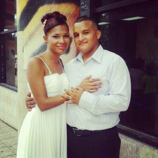 Mi esposa y yo recien casados