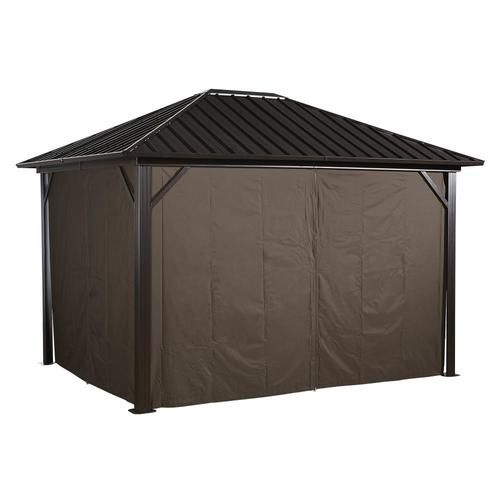 Sojag Curtains For Genova 10 X 12 Ft Brown Gazebo Not Included Lowes Com In 2020 Gazebo Gazebo Curtains Summer Curtains