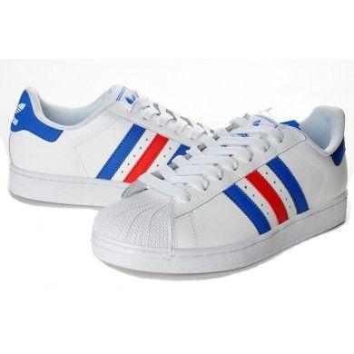 adidas originals superstar ii mens sneakers running white/blue/green
