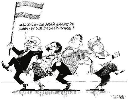 """OÖN-Karikatur vom 18. Februar 2016: """"Bald. Vielleicht. Oder auch gar nicht."""" Mehr Karikaturen auf: http://www.nachrichten.at/nachrichten/karikatur/ (Bild: Mayerhofer)"""