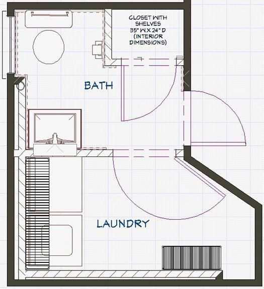 Bathroom And Laundry Plans At The Intersection Of Art Architecture Design Bathroomlayout Laundry In Bathroom Bathroom Floor Plans Laundry Room Bathroom
