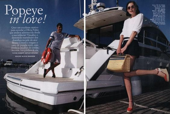 """Popeye in love"" by Robert Astley Sparke for Glamour Brazil"