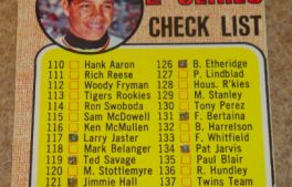 I will sell my 1968 Topps 2nd Series Check List #107 for $2.00