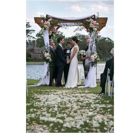 Leah and Yoni's Charming Lochhaven Backyard Wedding | Norfolk Virginia