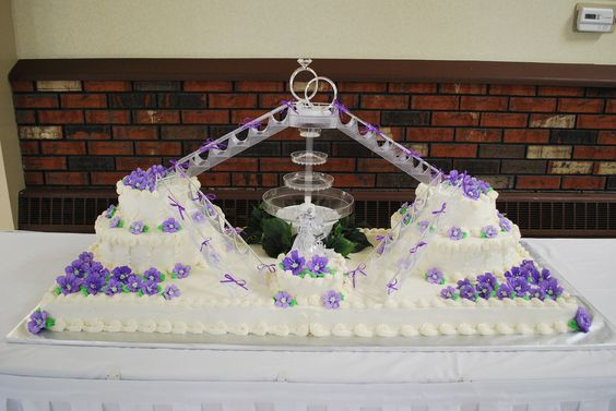 wedding cake bridges and stairs wedding base of cake is 51 quot x 19 quot 4 sheet cakes with 22095