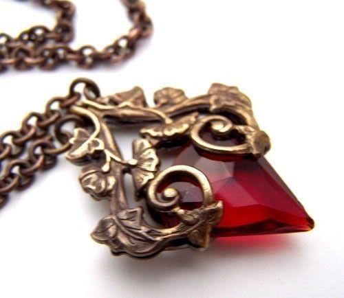 Bleeding Heart Necklace.