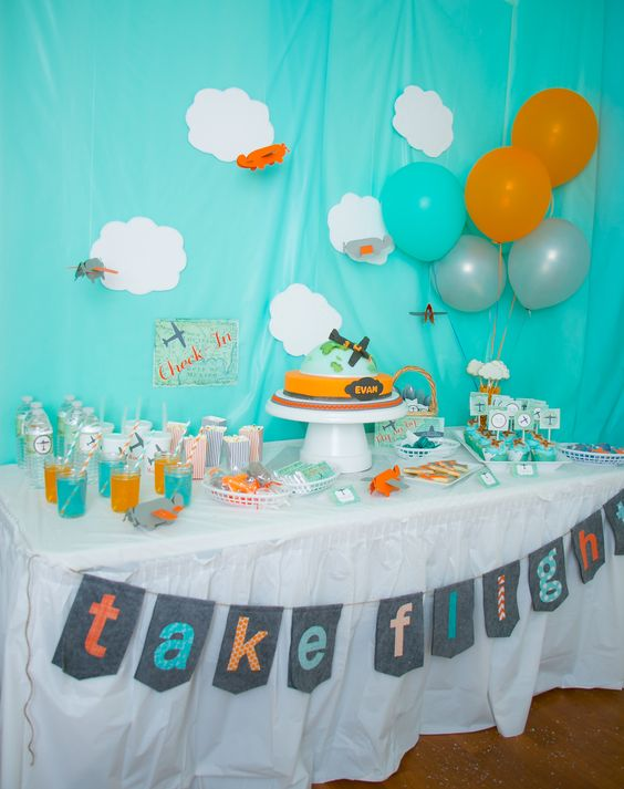 Airplane birthday parties, Airplanes and Birthday parties on Pinterest
