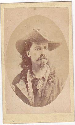 CDV of young William F. Cody / Buffalo Bill. (c. 1875).