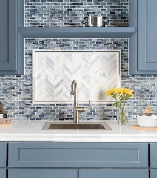 Blue Mosaic Tile Kitchen Backsplash Backsplash Tile Design