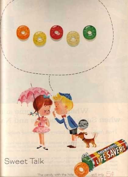 1960 vintage Lifesaver candy ad