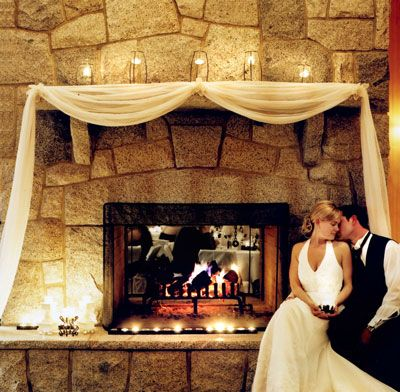 Ideas for my reception area : Decorating a mantel