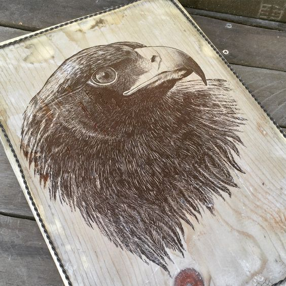 A Original pen and ink drawing I did that I made into a wood transfer.