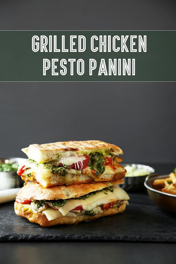Grilled Chicken Pesto Panini