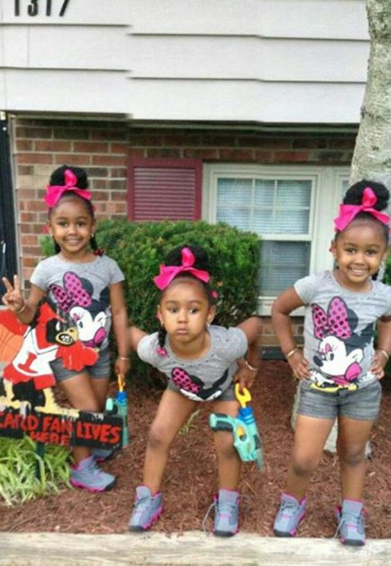 Groovy Triplets Pony Tails And Girls On Pinterest Short Hairstyles Gunalazisus
