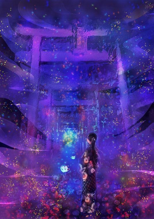 画像 幻想的なイラストまとめ Naver まとめ Art Illustration Anime