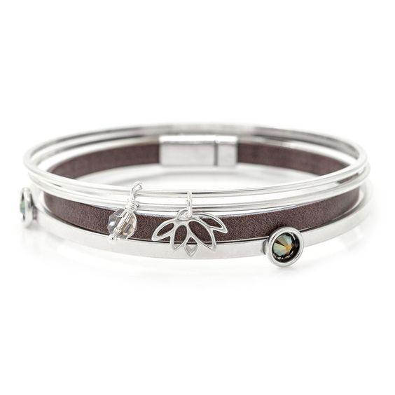 Lotus Love Bracelets | Fusion Beads Inspiration Gallery #DriedHerb #FusionbeadsColorOfTheMonth