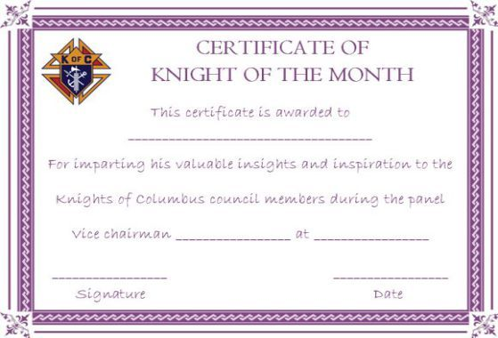 10 Superb Knights Of Columbus Certificate Templates For Appreciation Template Sumo Certificate Templates Knights Of Columbus Certificate
