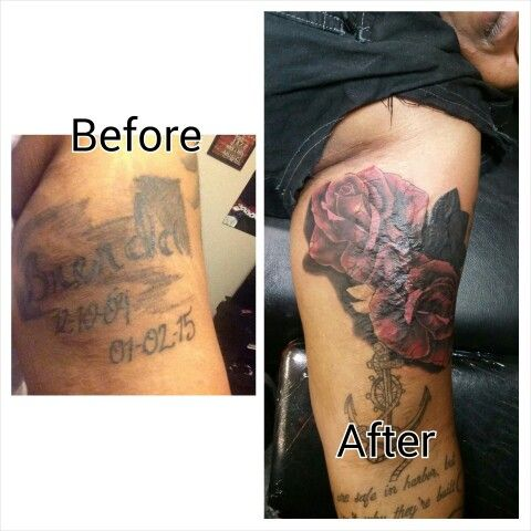 A cover up performed by Trap Wright...  #coverup #coveruptattoos #roses #cooltattoos #tattoo #exciting #customtattoo