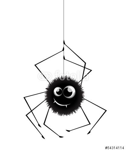 Vektor: spinne cartoon