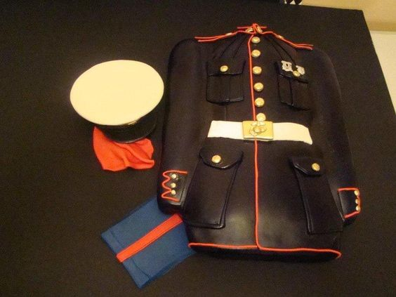 UNITED STATES MARINE CORPS CAKE - Cake by Colormehappy