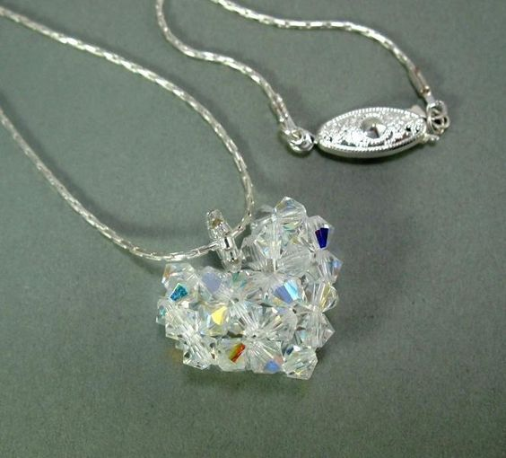 Looking for jewelry project inspiration? Check out Crystal Heart Pendant by member Pam LoPiccolo.