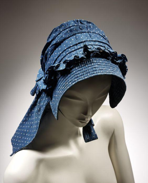 1850's corded bonnet: