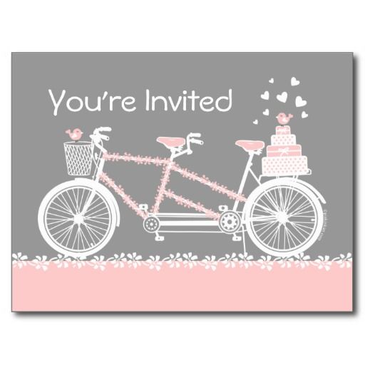 This deals tandem bicycle wedding shower invitation postcard tandem this deals tandem bicycle wedding shower invitation postcard tandem bicycle wedding shower invitation filmwisefo Choice Image