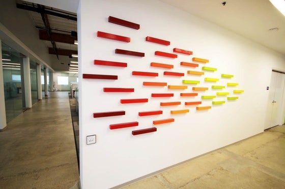 Climb Every Mountain Wall Sculpture Modern Art Commercial