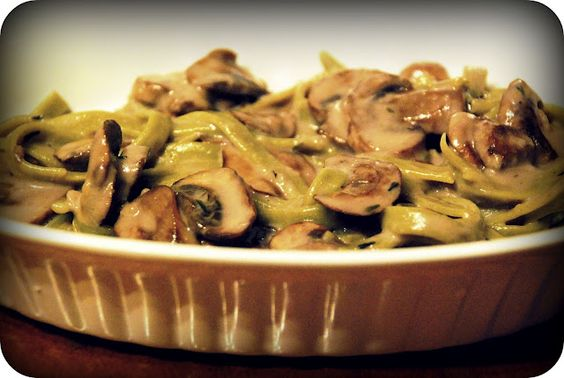 Simple Cream Sauce with Mushrooms